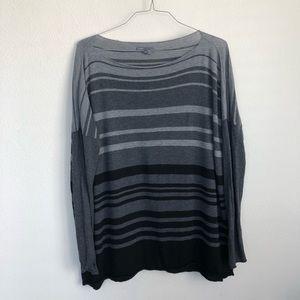 Vince Striped Lightweight Merino Wool LS T Shirt